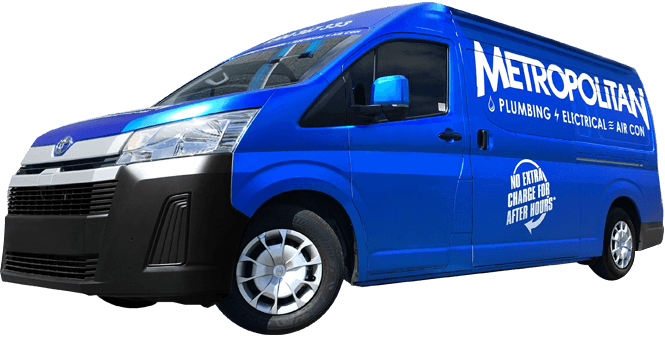 Metropolitan Electrical Contractors Vans Available Now for Outdoor Lighting Installation Image